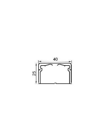 LEG 030110 - DLP-MINICANALE 40X25 1 SCOMPARTO BIANCO
