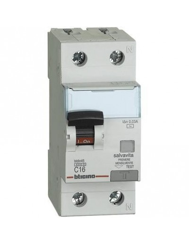 BTI GA8813AC16 - btdin45 - magn diff AC 1P+N 16A 4,5kA 30mA