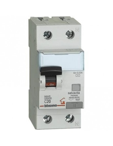 BTI GC8813AC20 - btdin-RS - mag. diff  AC 1P+N 30mA 20A 4500