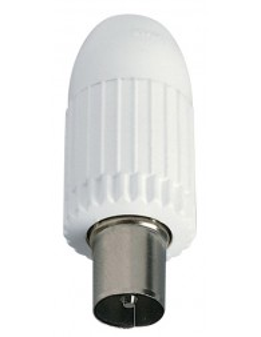 VIW 01644 - Connettore TV-RD-SAT maschio ass. bianco